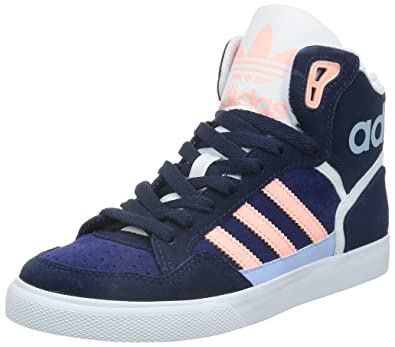 pretty nice e8abc cb574 adidas Originals Extaball, Baskets hautes femme, Bleu - Blau (Night  Indigo Light
