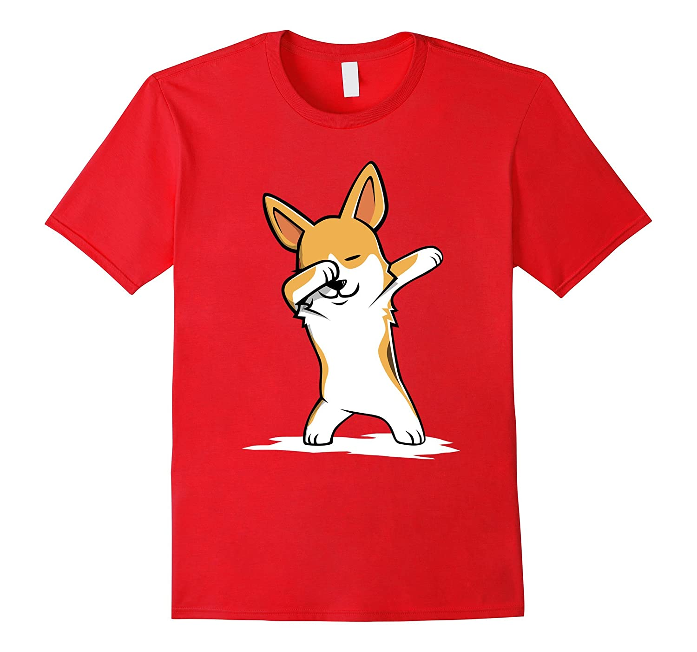 Corgi Cute Dabbing T-Shirt Funny Dab Dance Gift Shirt-RT