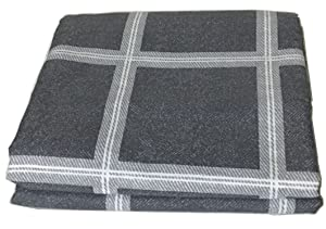 Chesterch Prevoster Gingham Microfiber Duvet Cover Blue-Gray,No Comforter,Full Queen Size