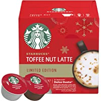 STARBUCKS Toffee Nut Latte Limited Edition by NESCAFE DOLCE GUSTO Medium Roast Coffee Capsules, 127.8g Box of 6+6