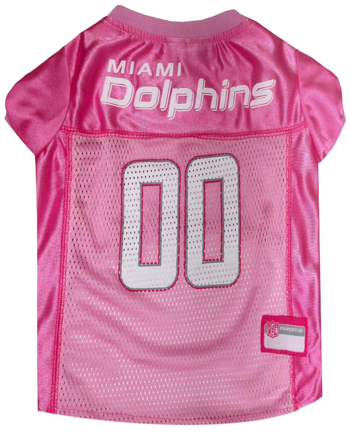 NFL MIAMI DOLPHINS DOG Jersey Pink, X-Small. - Football Pet Jersey in PINK