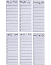 to-do-List Notepad - 6-Pack Magnetic Notepad, Shopping List Memo Pad for Things to Do, Things to Buy and Grocery List, 3 Assorted Designs, 60 Sheets Per Pad, 3.5 x 9 Inches