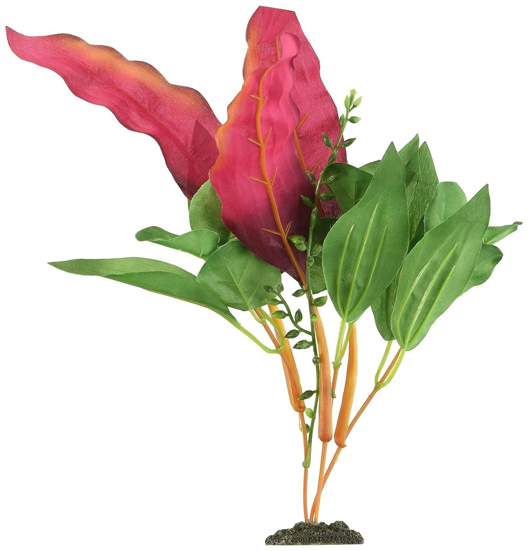 Plantas de acuario artificiales de seda realista color morado seda Crypto Balansae 30 cm