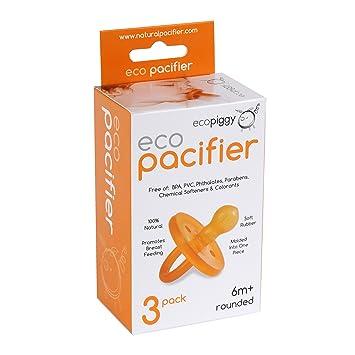 Amazon.com: Ecopacifier Chupete natural redondeado (3 ...