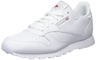 a21d1d178b5 Reebok Classic Leather White Youths Trainers Size 3.5 UK