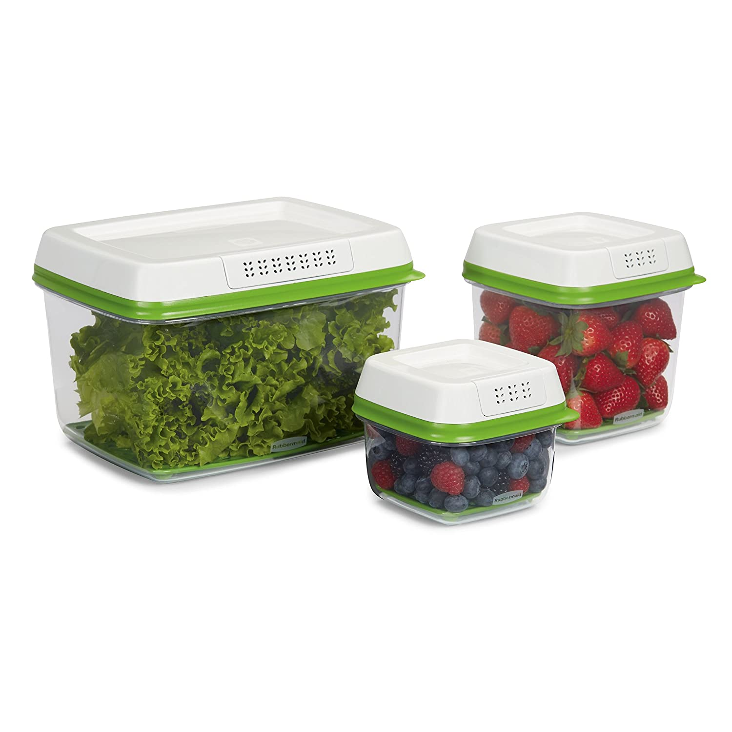 Vegetable Saver Containers Rubbermaid freshworks produce saver 3 piece set amazon home rubbermaid freshworks produce saver 3 piece set amazon home kitchen workwithnaturefo