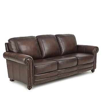 Amazon.Com: Greyson Living Edinburgh Top Grain Leather Sofa By