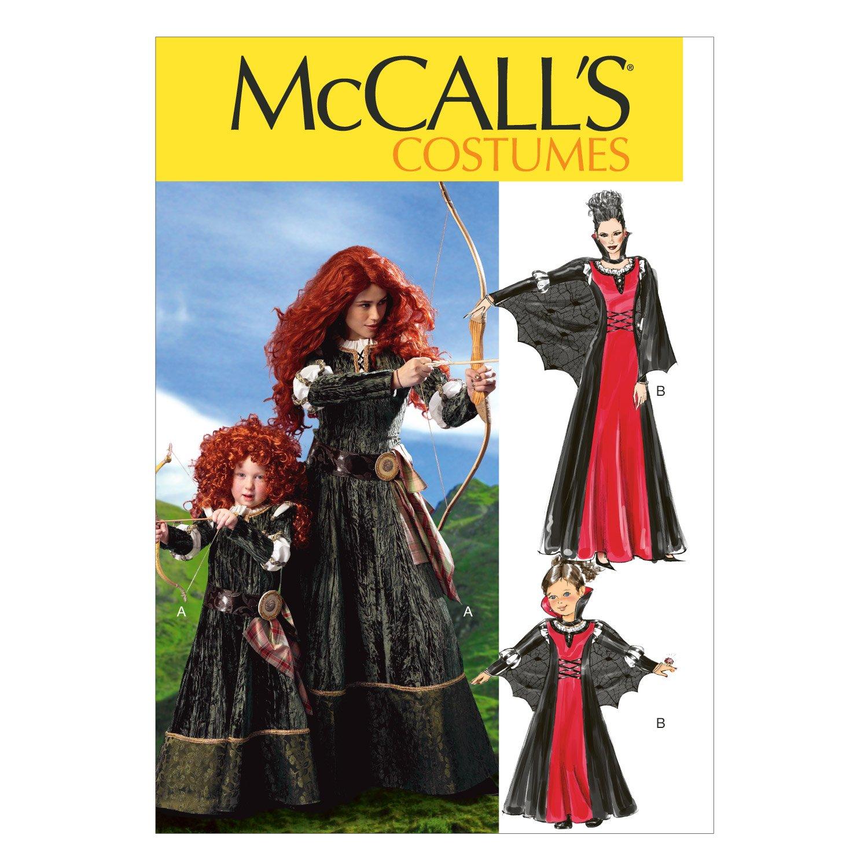 McCall's Patterns M6817 - Cartamodello per costume da donna e bambina, taglie small/medium/large, confezione da 1 pezzo, colore: bianco McCall' s Patterns M6817MIS