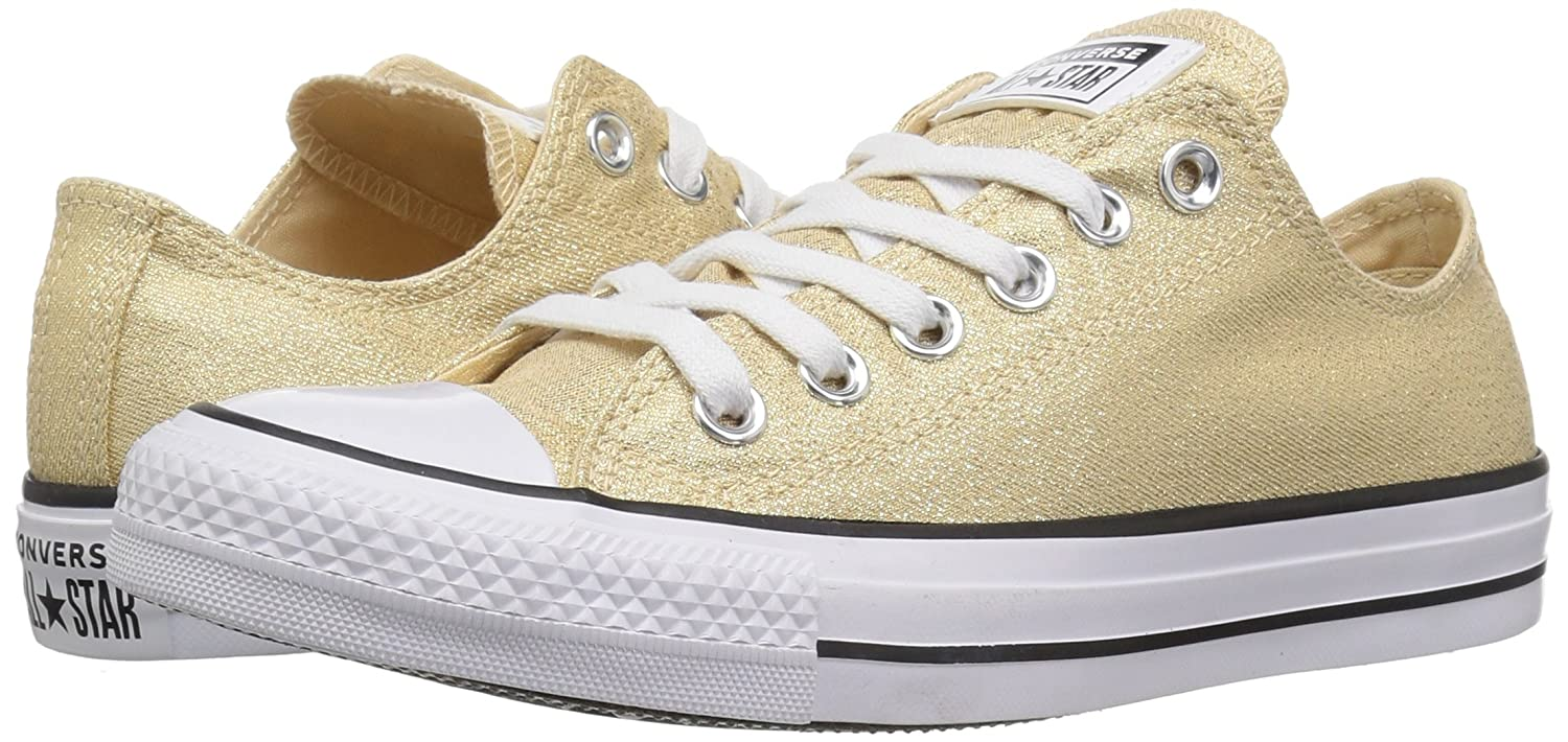 Converse Women's Chuck Taylor All Star Shiny Tile Low Top Sneaker B078NH81S1 8 M US|Light Twine/White/Black