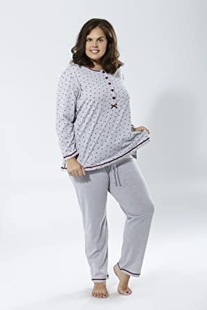 Mabel Big Beauty Pijama Manga Larga Tallas Grandes Amazon Es Ropa Y Accesorios
