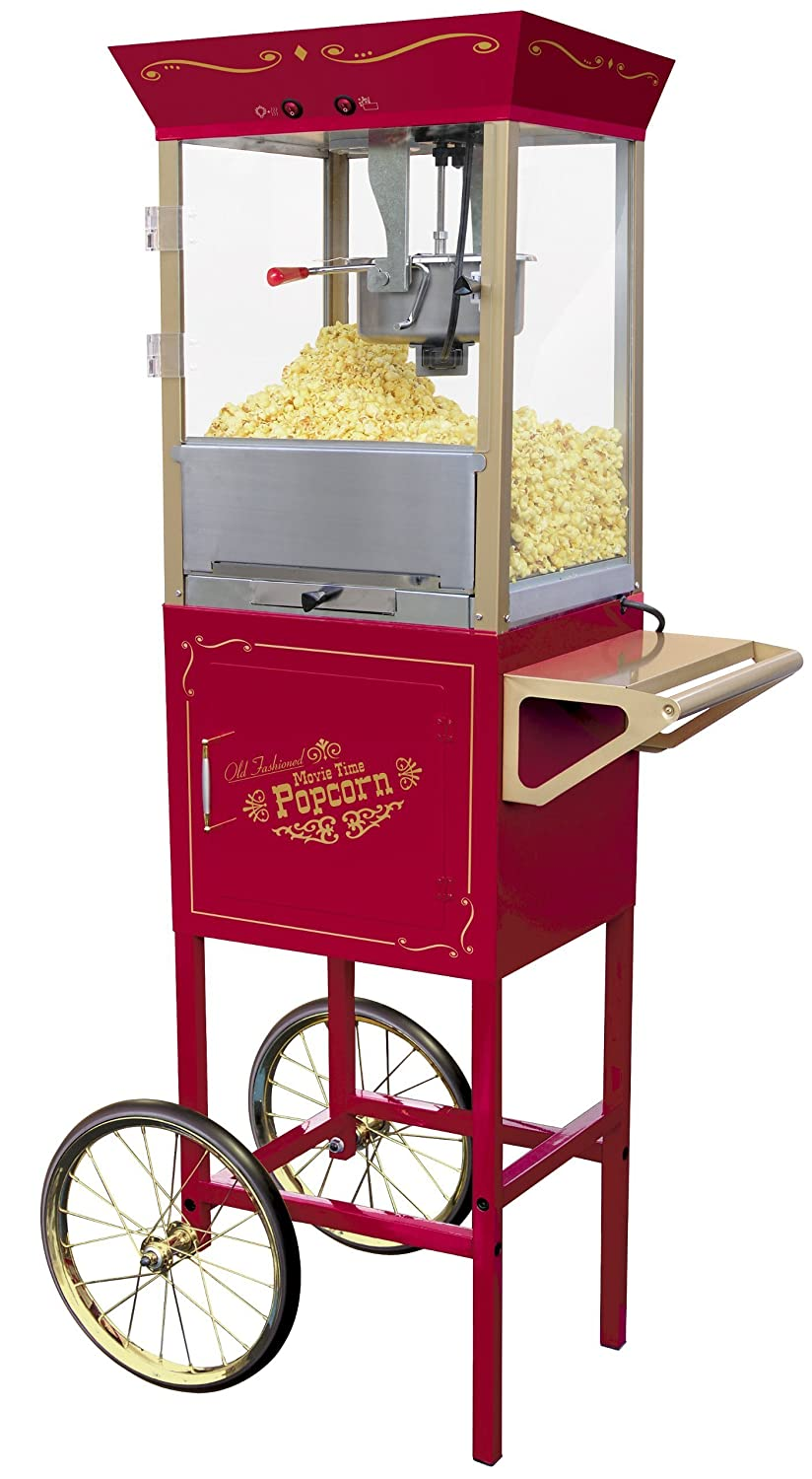 Nostalgia Electrics Old Fashioned Large Popcorn Cart palomitas de maiz poppers - Palomitero (120 V, 30,8 kg): Amazon.es: Hogar