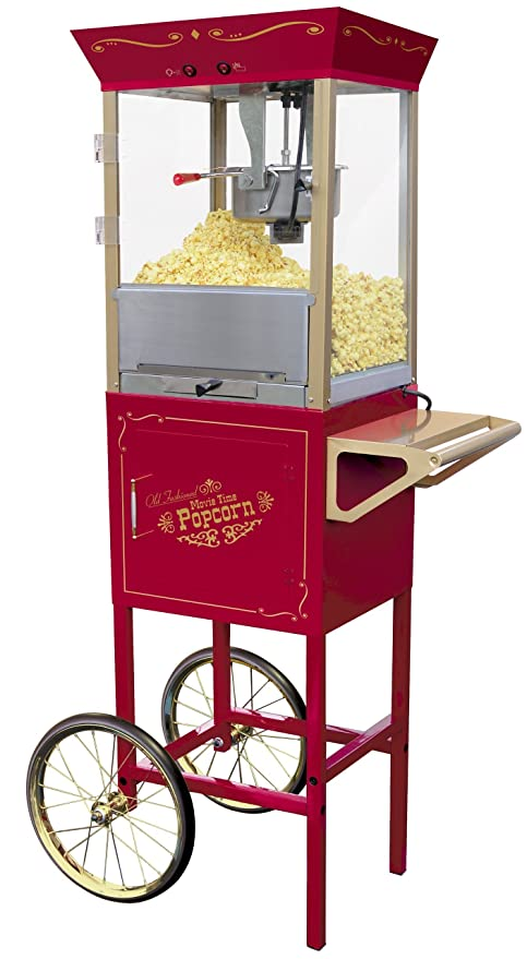 Nostalgia Electrics Old Fashioned Large Popcorn Cart palomitas de maiz poppers - Palomitero (120 V