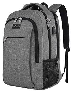 3518bca8a6e2 MATEIN Mens Anti-Theft Waterproof Travel Laptop Backpack with USB ...