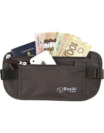 Id/éal portefeuille Undercover Wallet pour s/écuriser largent Cartes de cr/édit Billets T/él/éphones mobiles Passeport en voyage Ceinture de Voyage Voyage pour les femmes et les hommes Gris