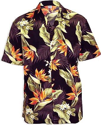 Hawaiian Aloha Fashions Aves del paraíso kauai camisa hawaiana de los hombres: Amazon.es: Ropa y accesorios
