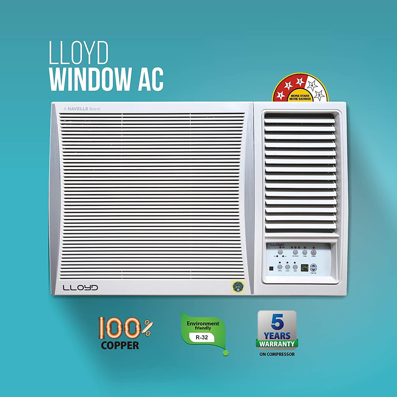 Lloyd Mats 1.5 Ton 3 Star Window AC (Copper, LW19B32MR, White)