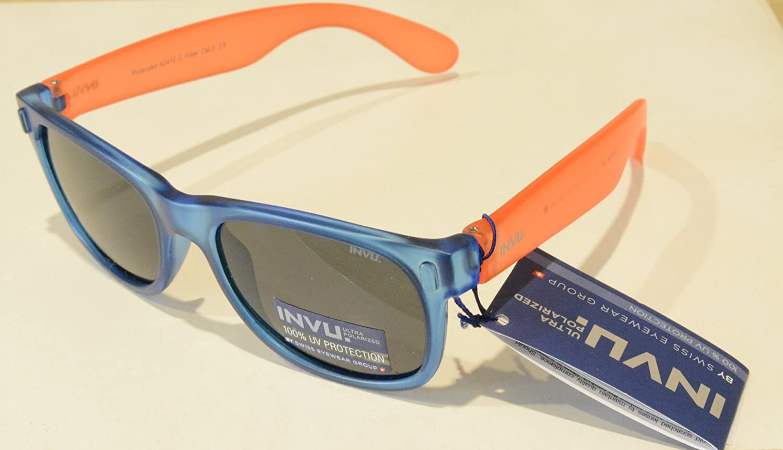 Gafas de sol polarizadas Bimbo Bimba INVU K 2410 C Azul Naranja ...