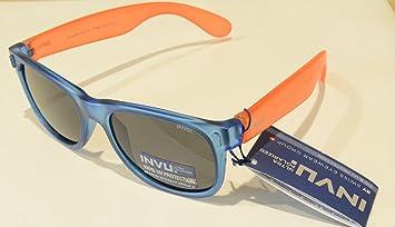 Gafas de sol polarizadas Bimbo Bimba INVU K 2410 C Azul Naranja Lentes 100% UV
