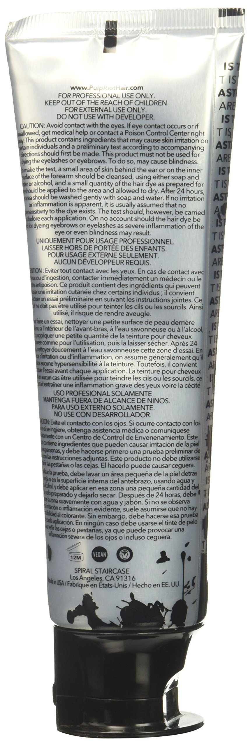 Pulp Riot Semi-Permanent Hair Color for Unisex, Velvet Eggplant, 4 Ounce by Pulp Riot (Image #5)