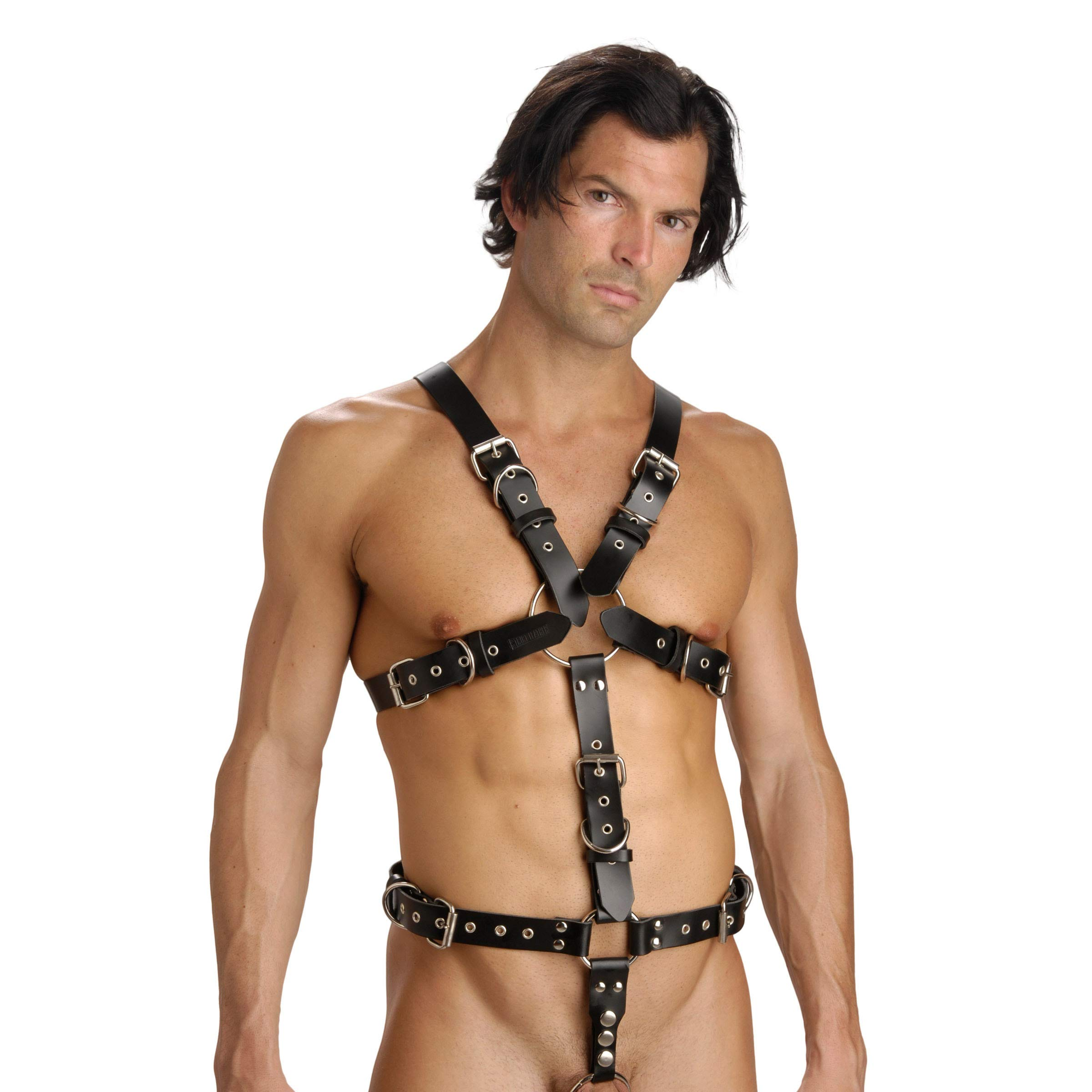 Strict Leather Body Harness with Cock Ring, Medium Large by Strict Leather