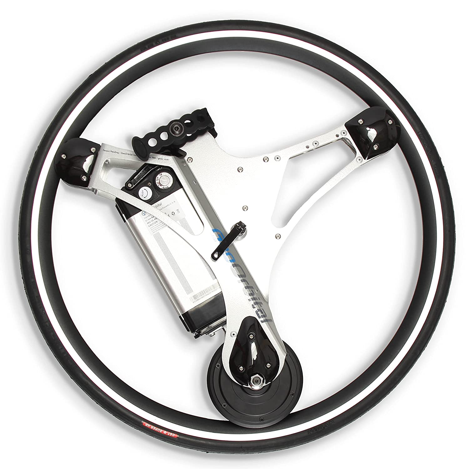 GeoOrbital(電動自転車のホイール) Electric-Powered Bicycle Wheel - Turn Any Regular Bike Into a Self-Moving Vehicle, No Pedaling Required (20mph, 500W Motor) - Easy 60 Second No-Tool Installation 700c / 28 Inch (Silver)  B072RD1VKX