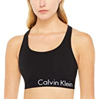 Calvin Klein Women's Logo Elastic Crop Top with Removable Cups