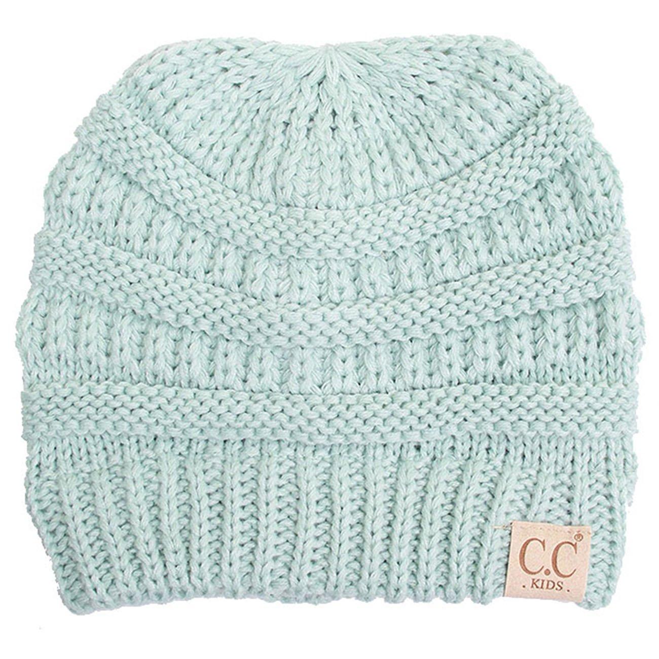 ScarvesMe Toddler Children Kids Girl Boy Ribbed Knit Winter Hat Beanie hat Cap Ages 2-7
