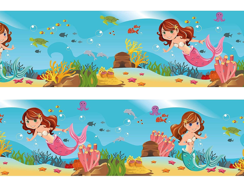 Bordüre kleine Meerjungfrau Wandborde Borde