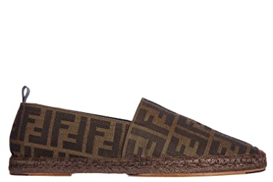 Super carino 24971 a0243 Fendi Men's Espadrilles Slip on Shoes Zucca Brown UK Size 9 ...