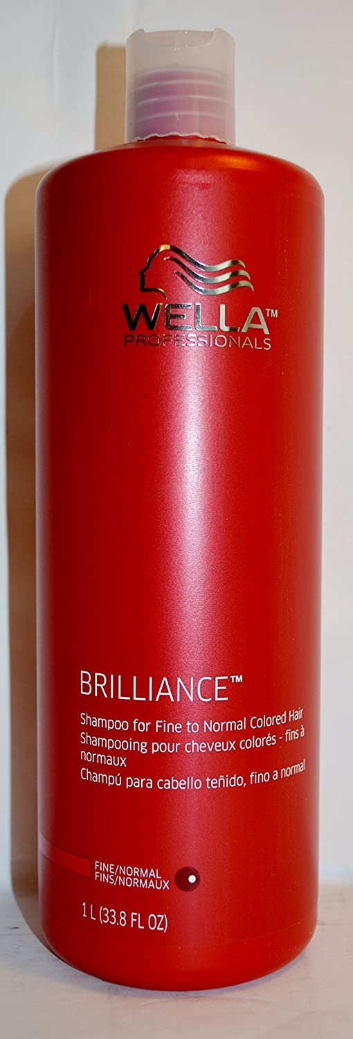 Wella Brilliance Shampoo for Fine to Normal Colored Hair, 33.8 Ounce