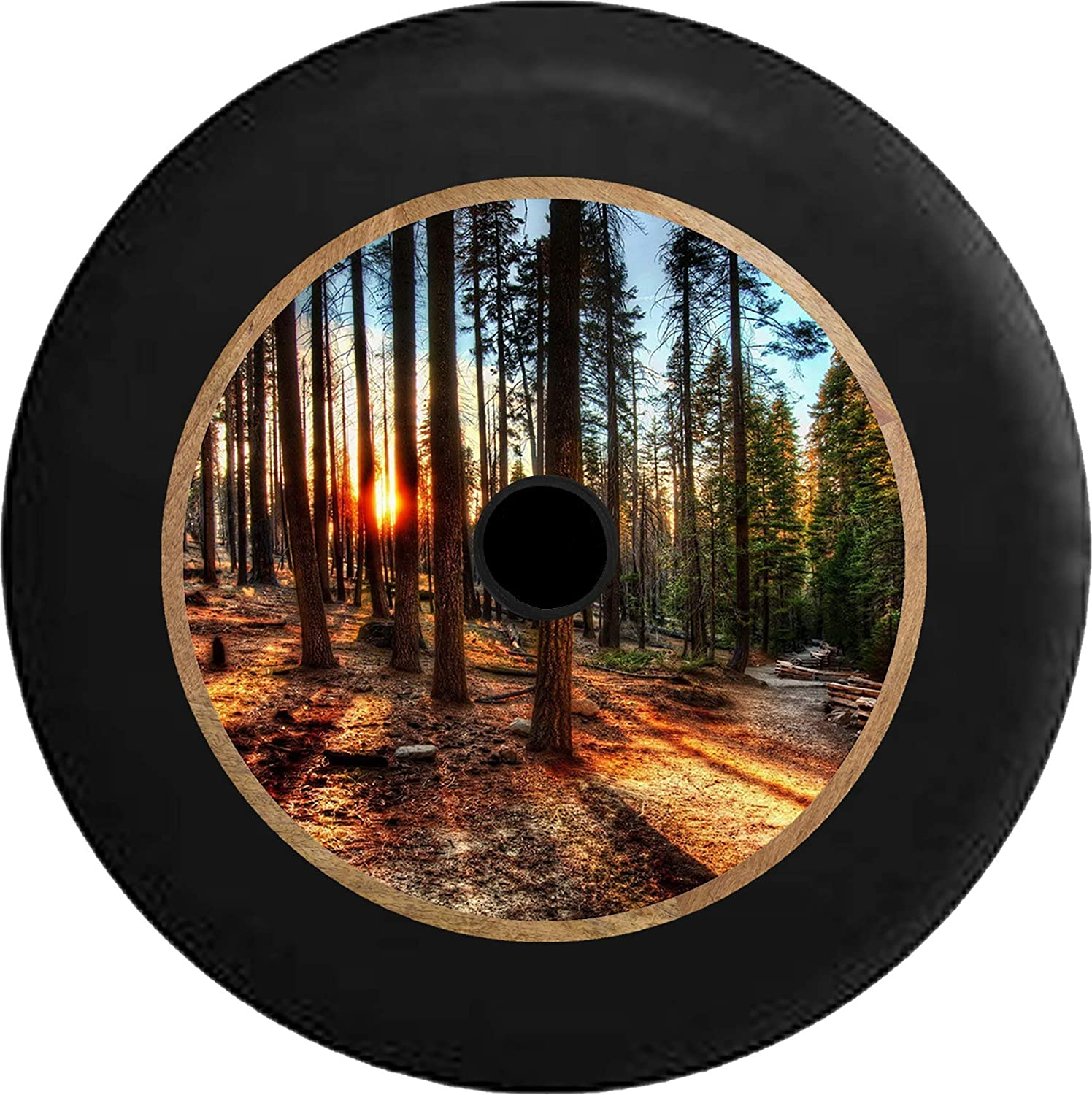 Tire Cover Sun Through the Tall Pines California Forest for Jeep Wrangler RV