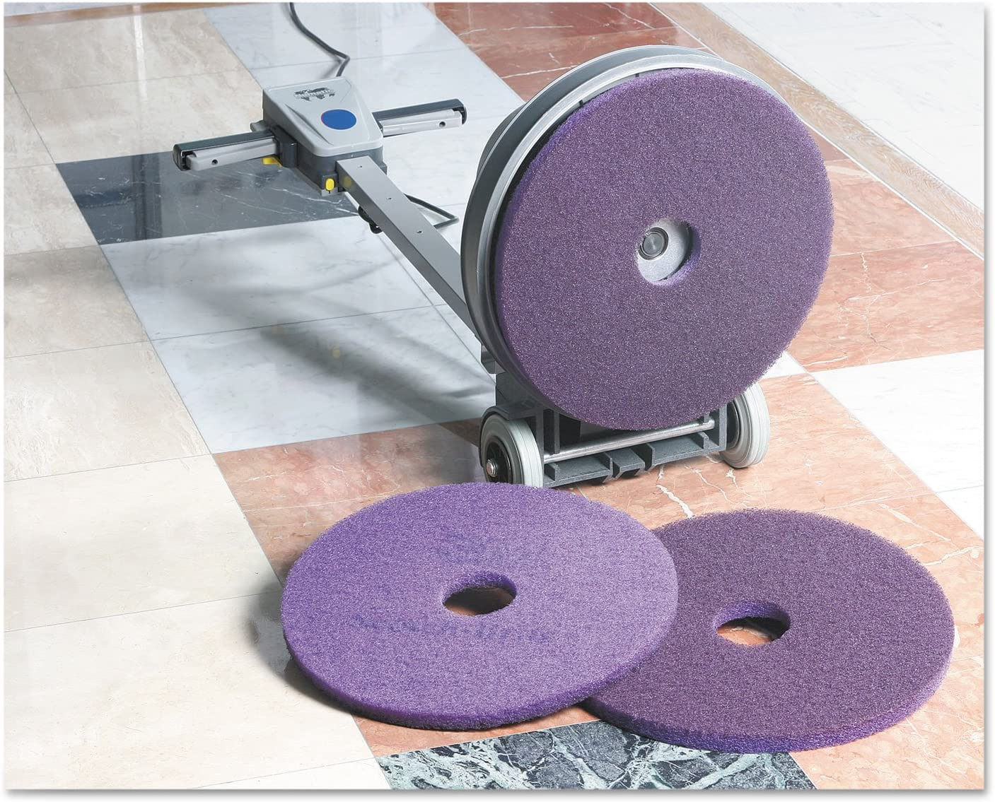 5 Marble Scratches 3M 23894 3M Purple Diamond Marble Floor Polishing Pads