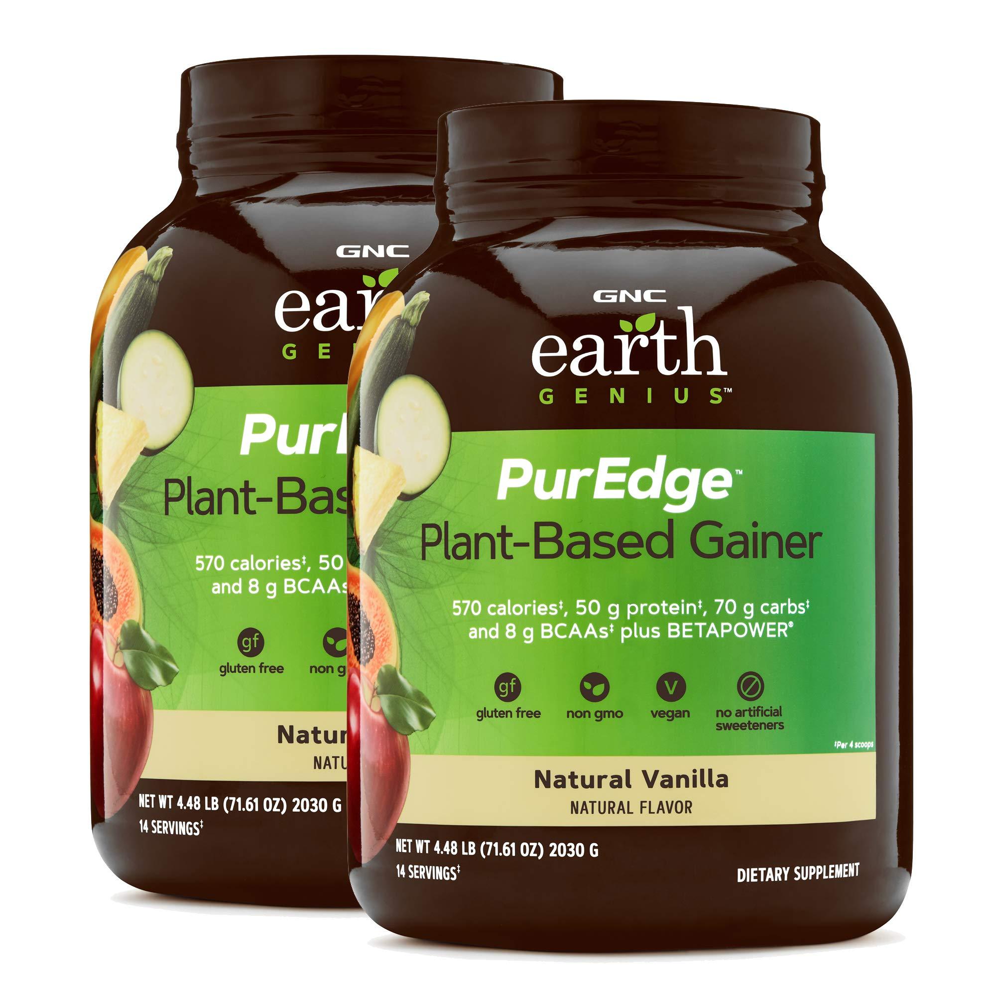 GNC Earth Genius PurEdge Plant-Based Gainer - Natural Vanilla - Twin Pack