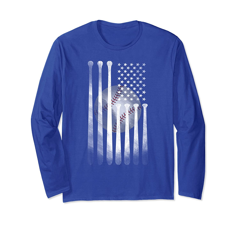 American Flag Vintage Baseball Flag Shirt, Dad, Mom Shirt-alottee gift