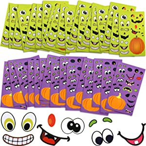 120 Sheets Halloween Stickers Sheets Pumpkin Decoration Stickers Lantern Face Stickers for Halloween Party Supplies