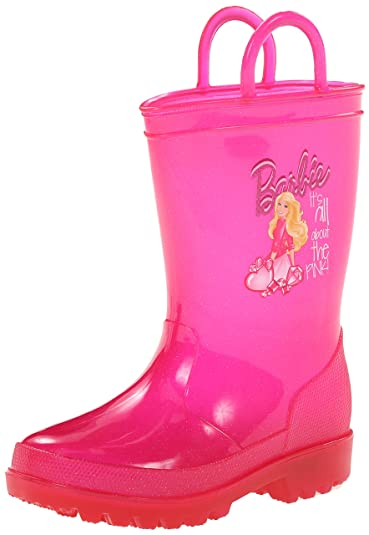 Amazon.com | Mattel Barbie Light-Up Rain Boot (Toddler/Little Kid ...