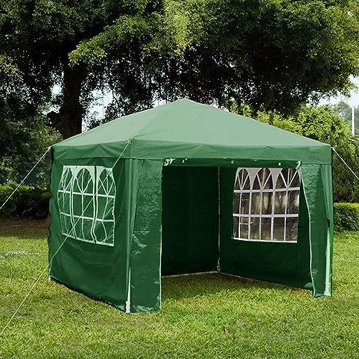 Gr8 Garden 70745-GREEN Gr8-Cenador de jardín con Laterales Impermeables para Playa, Fiesta, Festival, Camping, Boda, toldo de 3 x 3 x 2, 45 m, Color Verde: Amazon.es: Jardín