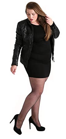 416de6987 Plus Size Luxury Fishnet Tights Black. Special Pantyhose Lingerie for Large  Sizes  Made in