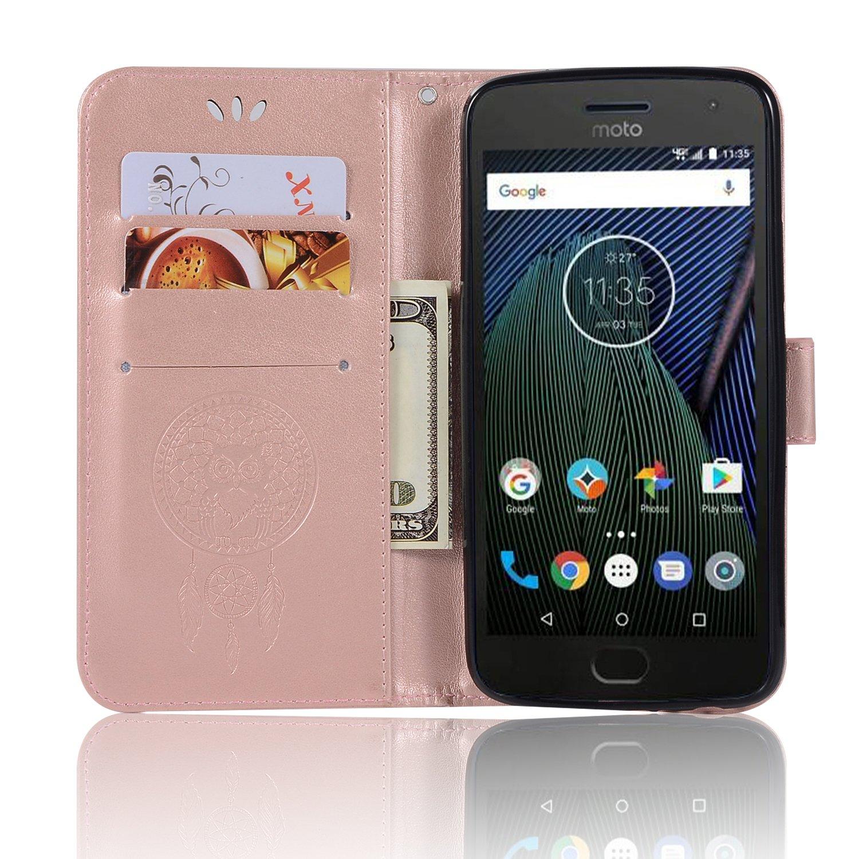 Para Motorola Moto G5 Plus Funda Cuero De La PU Magn/ético Capirotazo Billetera Apoyo Bumper Protector Cover Funda Carcasa Case gris
