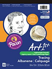 Pacon Art1st Tracing Paper Pad, 9 x 12 Inches, 50 Sheets (2312)