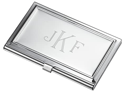 Personalized business card holder with free engraving in monogram personalized business card holder with free engraving in monogram style colourmoves