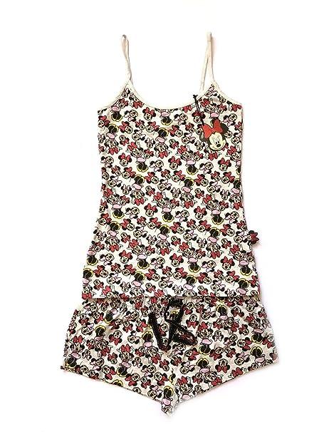 Disney Mickey Minnie Mouse Ladies Girls Shorts para Mujer Pijamas Pijamas PJ Set UK XS-