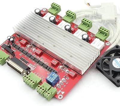 4 Axis TB6560 Stepper Motor Driver Board USB CNC Controller Card+Manual Control