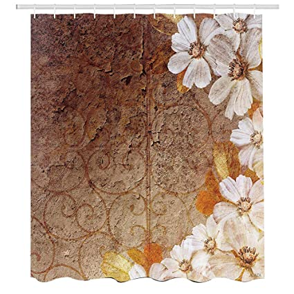 Amazon.com: Grunge Home Decor Collection,Flowers and Leaves Pattern ...