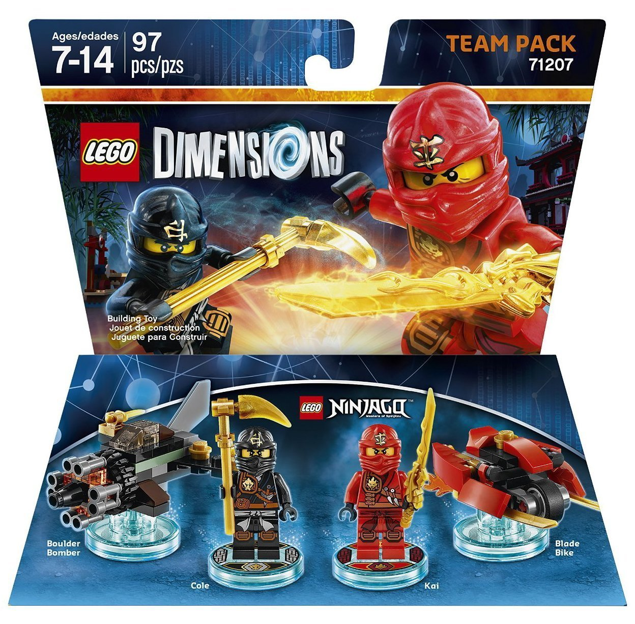Ninjago Cole & Kai Team Pack + Adventure Time Finn The Human Level Pack + Scooby Doo Team Pack - Lego Dimensions (Non Machine Specific) by WB Lego (Image #6)