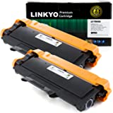 LINKYO Compatible 2 Pack Brother TN450 Black Toner Cartridge