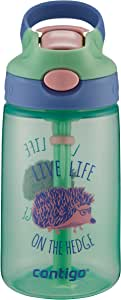ContigoGizmo Water Bottle, 14 oz, Mint Chip with Hedgehog