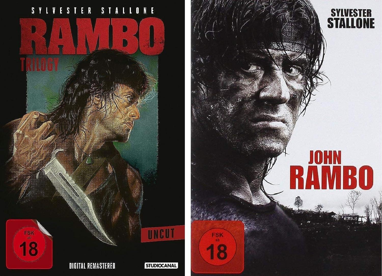 Rambo 1 4 Alle Teile Dvd Set Bundle Fsk18 In Deutsch Amazonde