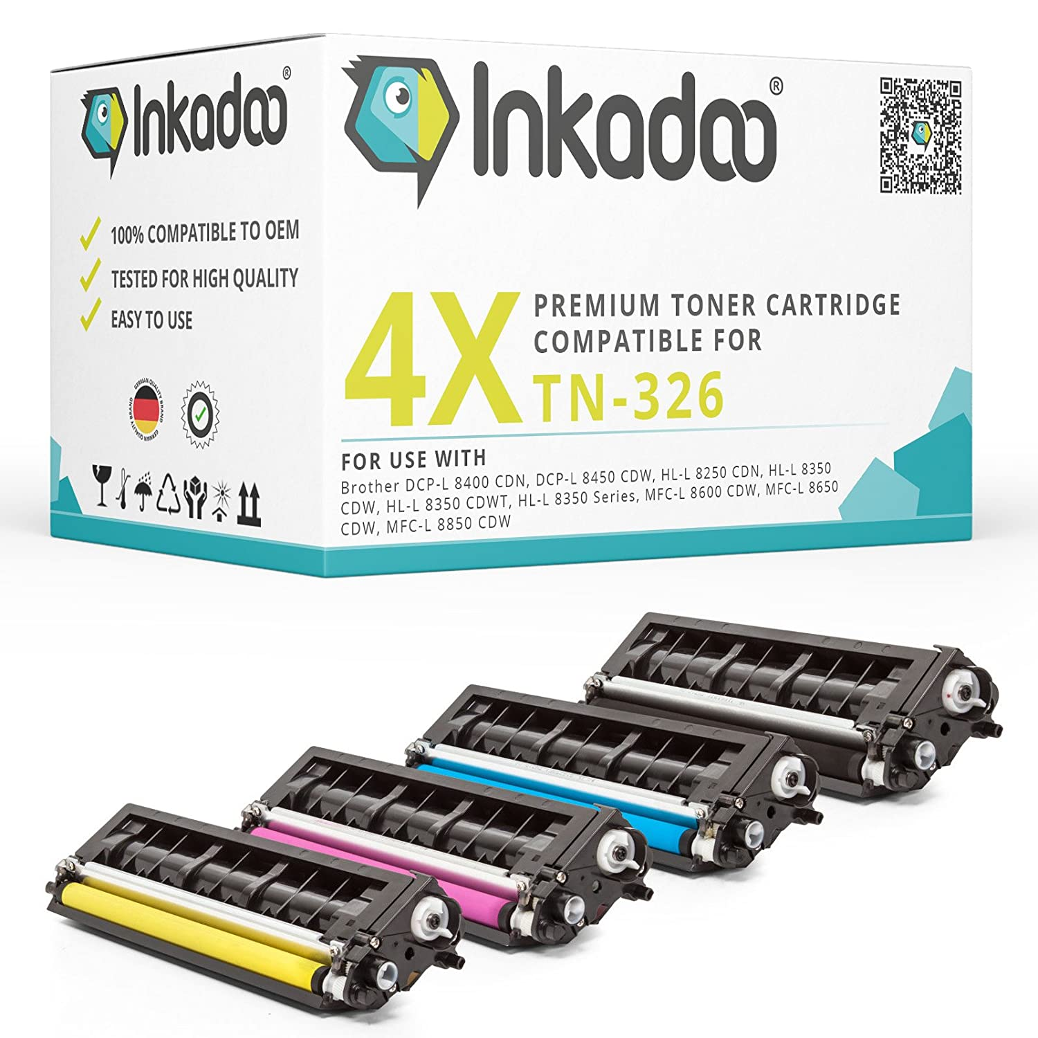 Inka Doo® - Tóner compatible con Brother MFC L 8850 CDW sustituye ...
