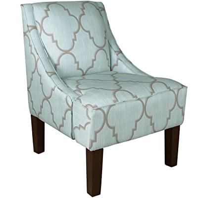 Skyline Furniture Swoop Arm Chair, Spring Breeze Mineral